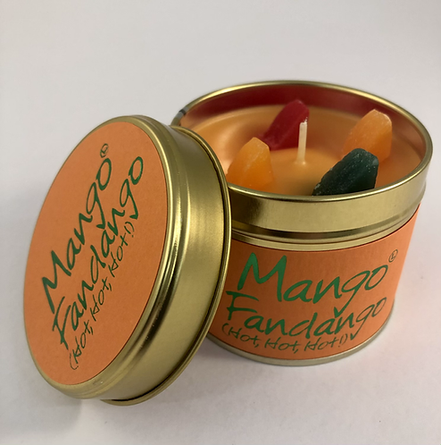 Lily Flame Scented Candle tin, Mango Fandango.