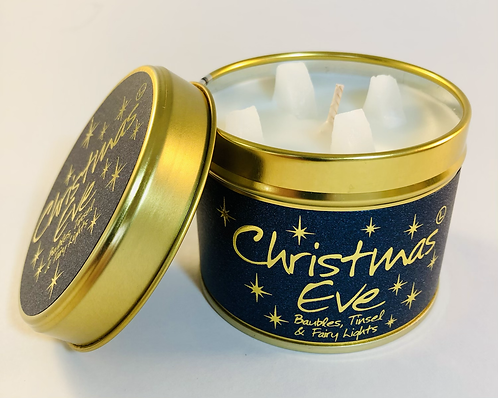 Lily Flame Scented Candle tin, Christmas Eve.