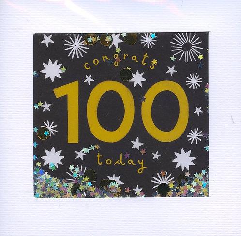 Congrats 100 today.
