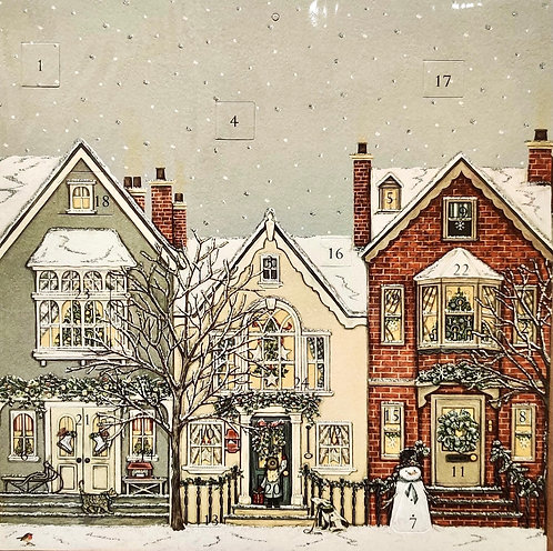 Advent Calendar Snowy Street Sally Swannell