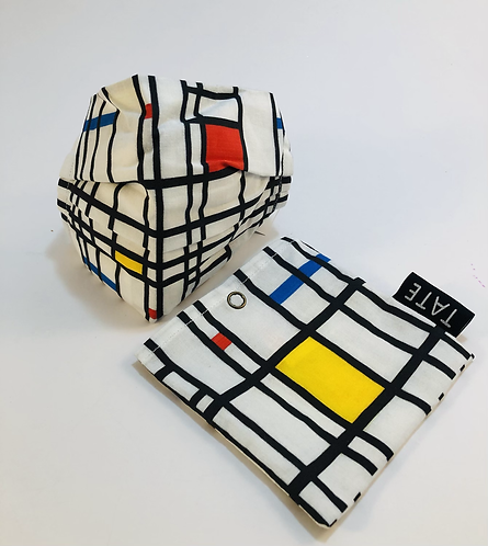 Face Mask, Piet Mondrian.