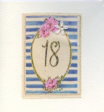 18th Handmade card.
