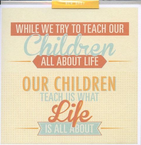 While we try to teach our children....