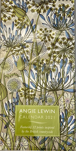 Calendar 2021 Angie Lewin Slim Wire Hanging