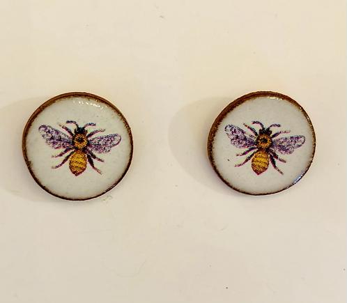 Ceramic Bee design earings.