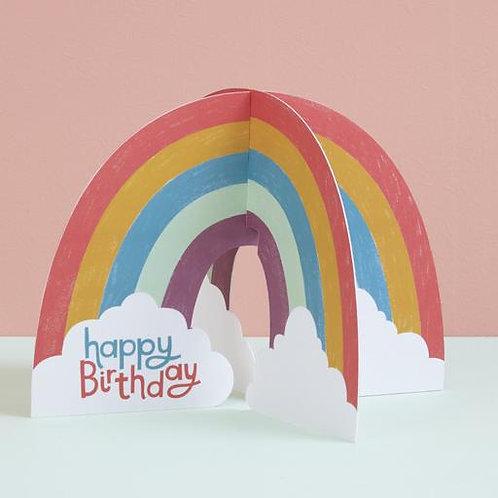 3D Rainbow Card