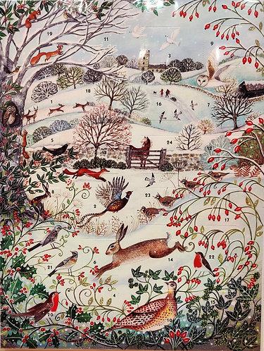 Advent Calendar Animal Friends in Snow