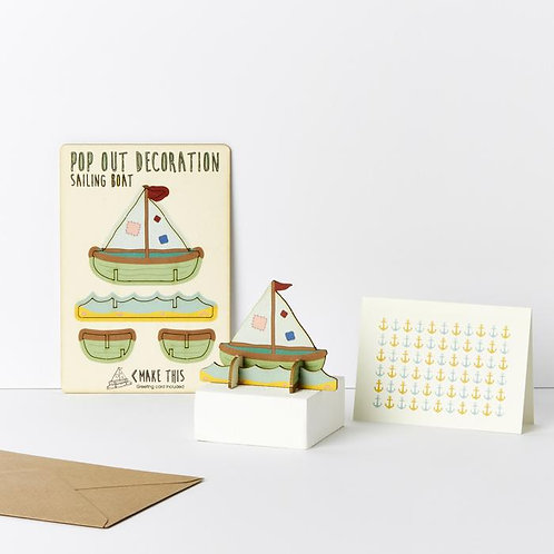Pop-Out Sailing Boat Card