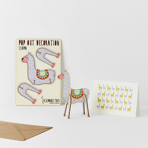 Pop-Out Llama Card