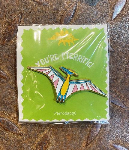 Dinosaur Pin Badge Pterodactyl