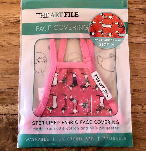 """Sausage dog """"Frank"""" Face coverings."""