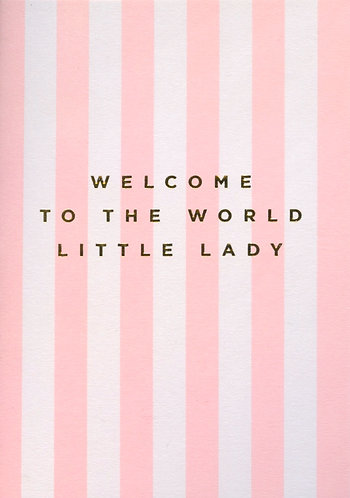 Welcome to the World Little Lady