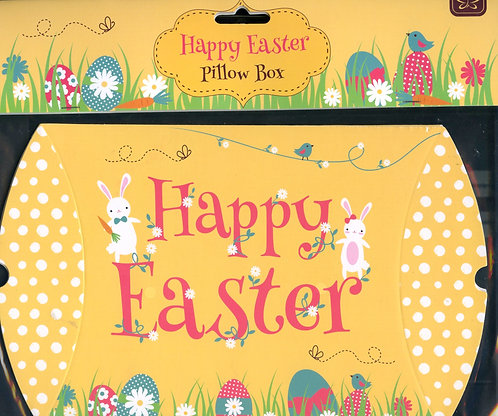 Happy Easter Gift Box Pillow pack style.