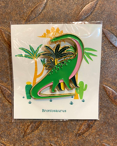 Dinosaur Pin Badge Brontasaurus