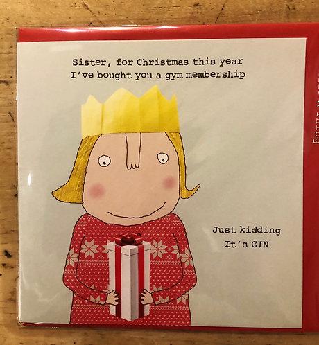 Christmas Card Sister Gin