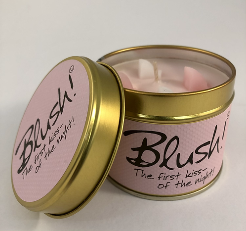 Lily Flame Scented Candle tin, Blush.