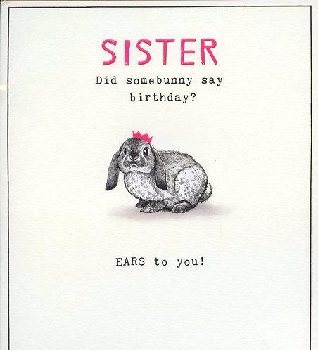 Sister, Did somebunny say birthday?