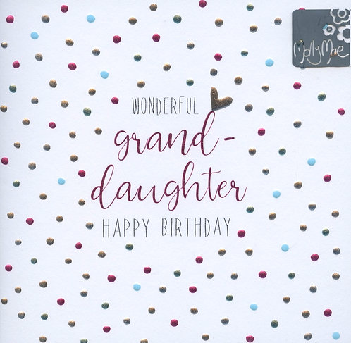 Grand-daughter Happy Birthday.