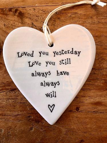 Ceramic Heart Love Token.