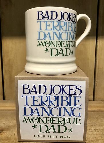 Wonderful Dad half pint mug, boxed.