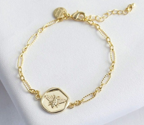 Gold Bee Plated Bracelet