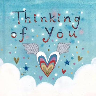 Lucy Loveheart Thinking of You Card
