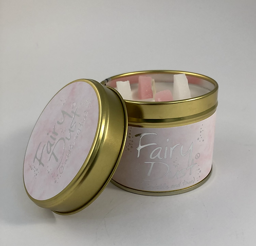 Lily Flame Scented Candle tin, Fairy Dust.