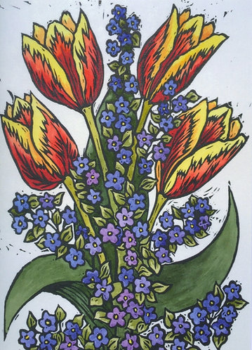 Forget-me-nots and Tulips
