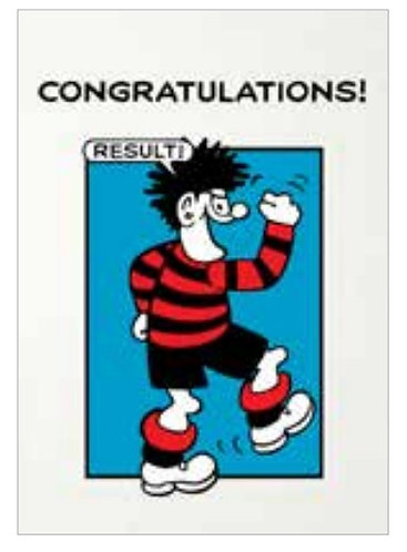 Beano Congratulations Card