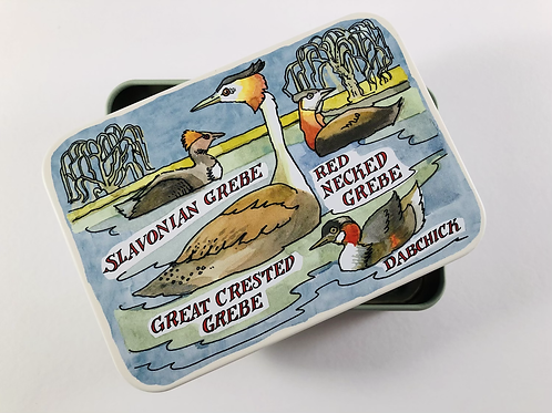 Emma Bridgewater Small Tin. Bird Families Ducks.