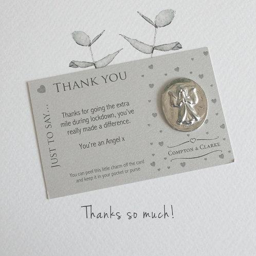 Thank You Angel Pocket Charm