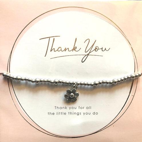 Bracelet, Flower design.