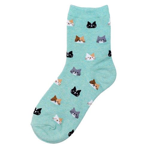 Cat Faces Socks