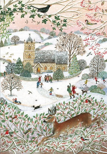 Church Scene Advent Calendar