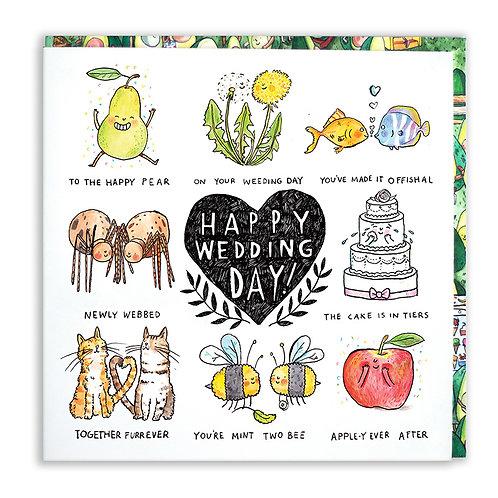 Happy Wedding Day! Pun Card