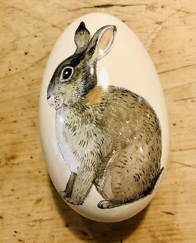 Opening tin egg Rabbit