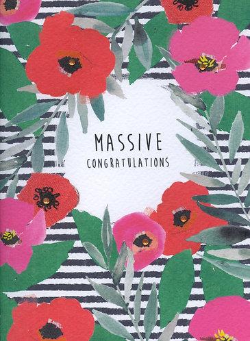 Massive Congratulations