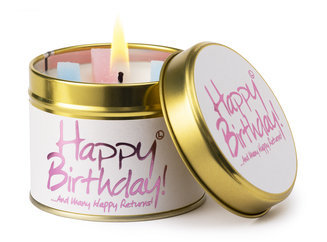 Happy Birthday Lily Flame Candle