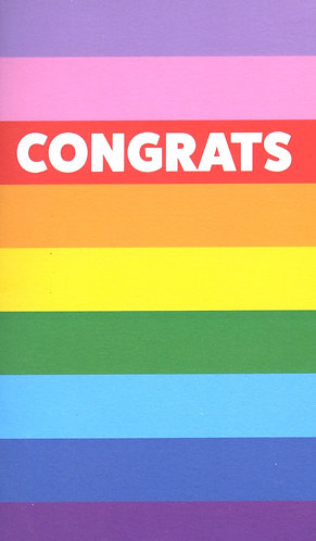 Congrats (Pride Colours)