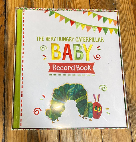 The Very Hungry Caterpillar Baby Record Book Embroidered