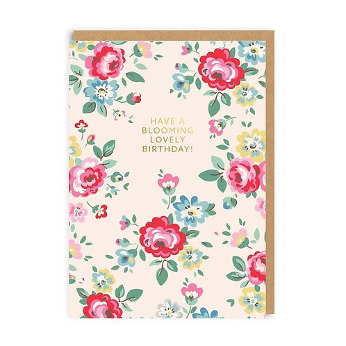 Cath Kidston Blooming Lovely Birthday Card