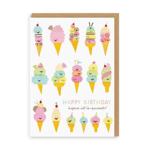 Happy Ice Cream Card
