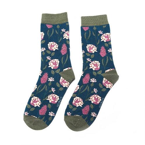 Botany Teal Socks