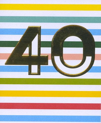 40 candy stripe