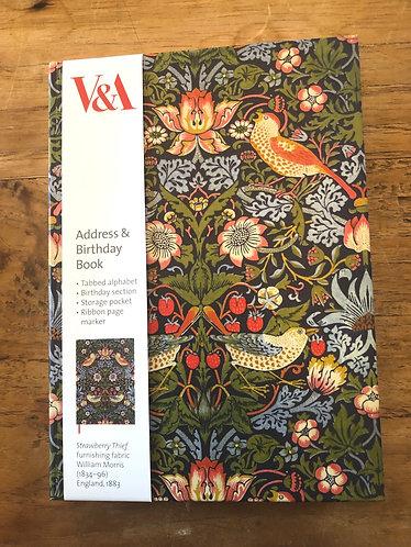 Address and Birthday book.