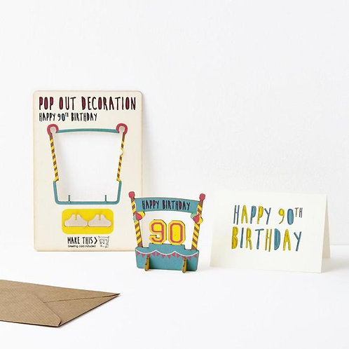 Pop-Out 90th Birthday Card