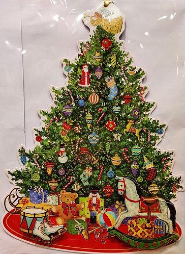 Advent Calendar 3D Cutout Christmas Tree