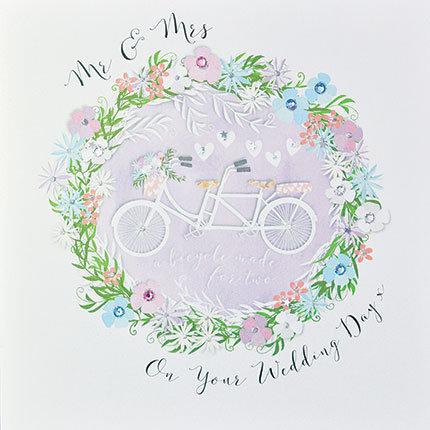 Mr & Mrs Tandem Bicycle Card