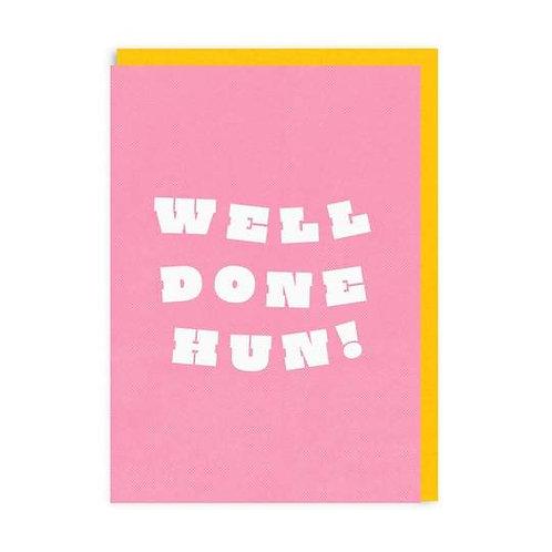 Well Done Hun! Riso Print Card