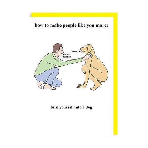 Turn Yourself Into a Dog Chris (Simpson's Artist) Card